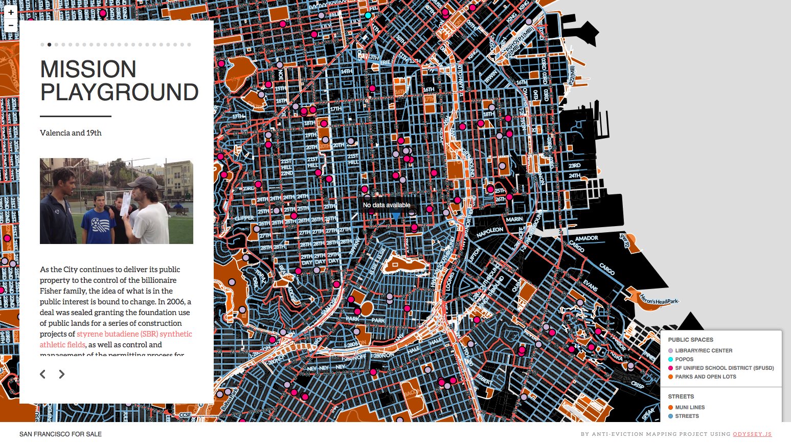 San Francisco For Sale By AntiEviction Mapping Project using